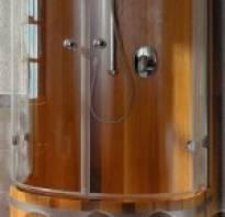 Деревянная душевая кабина