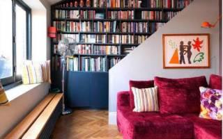 Книжные шкафы и библиотеки для дома фото