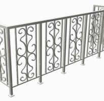 Балконные ограждения из металла