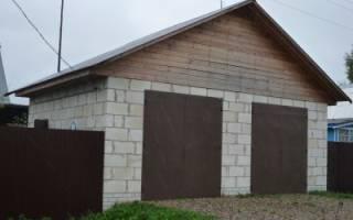 Быстровозводимый гараж из блоков