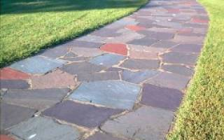 Цветной бетон для садовых дорожек