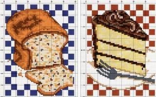 Вышивка крестом для кухни схемы