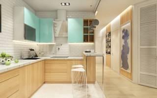 Сочетание плитки и ламината на кухне фото