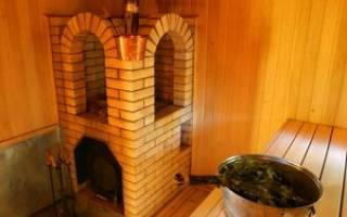 Кирпичная печь для бани с закрытой каменкой