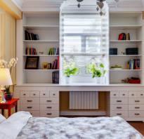 Мебель у окна экономим пространство