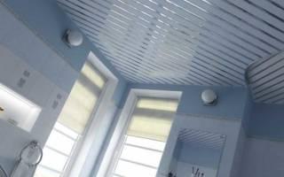 Реечный потолок размеры панелей