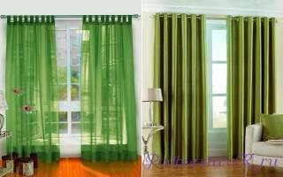 Какие шторы подойдут к зеленым обоям фото?