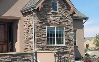 Облицовочный камень для фасада показать варианты отделки