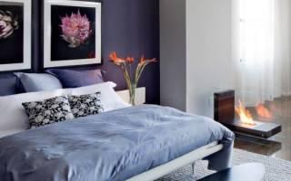 Спальни в фиолетовых тонах фото