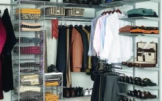 Сетчатые гардеробные системы своими руками