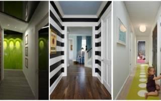 Как визуально расширить узкий коридор в квартире?