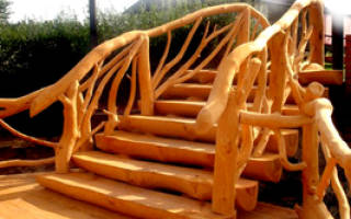 Лестница в срубе фото