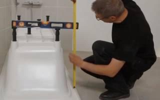 Стандартная высота ванны от пола с ножками