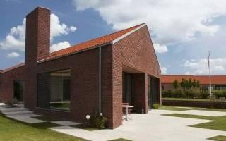 Кирпичные одноэтажные дома фото и проекты домов
