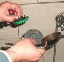 Как очистить душевую лейку от известкового налета