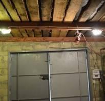 Как сделать свет в гараже