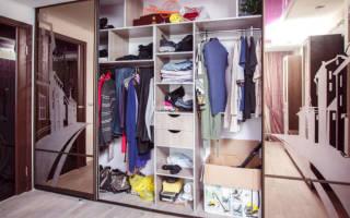 Шкаф купе внутреннее наполнение с размерами