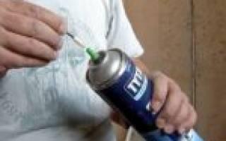 Как правильно пользоваться монтажной пеной