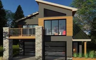 Проект гаража с жилой мансардой