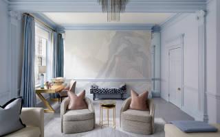 Интерьер гостиной в светлых тонах фото