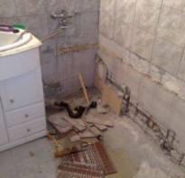 Как демонтировать чугунную ванну?
