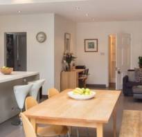Как обустроить кухню гостиную в частном доме?