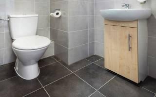 Полы в туалете из какого материала