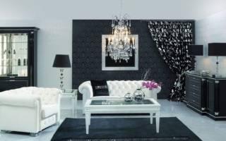 Комната с черными обоями фото