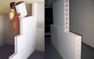 Стена из пазогребневых плит своими руками