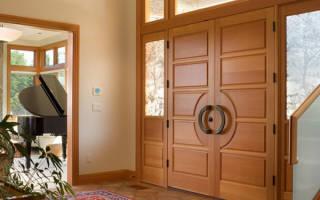 Как установить деревянную дверь с коробкой