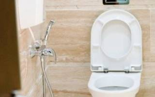 Гигиенический душ с термостатом скрытого монтажа