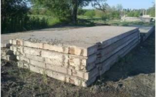 Фундамент для дома из дорожных плит