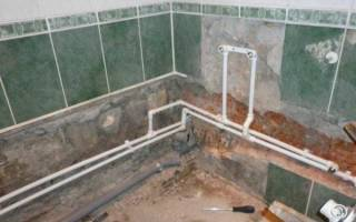 Разводка сантехники в ванной своими руками