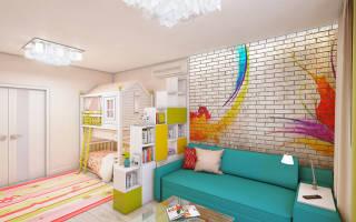 Детская гостиная в одной комнате дизайн фото