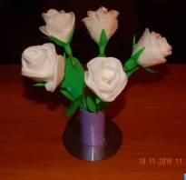 Роза из ватных дисков своими руками пошагово