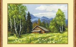 Схемы вышивки крестом пейзажи природа