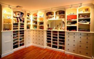 Полки для обуви в гардеробной
