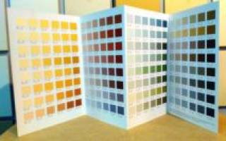 Палитра красок тиккурила для стен