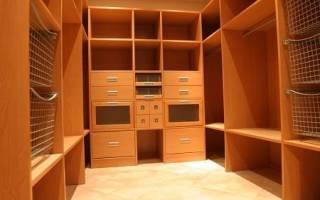 Минимальные размеры гардеробной комнаты в квартире