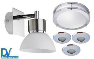 Светильники для ванной комнаты фото