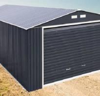 Сколько весит металлический гараж