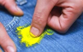 Как удалить акриловую краску с одежды?