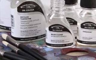 Растворитель без запаха для масляных красок