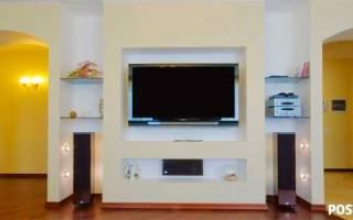Ниша для телевизора из гипсокартона