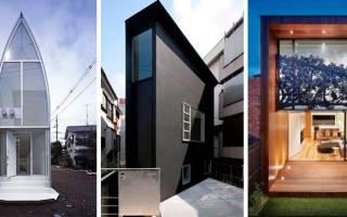 Проекты домов на узких участках фото