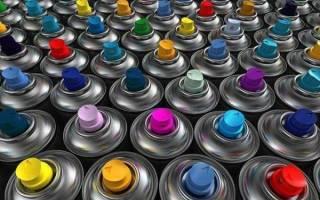 Краска для пластмассы в баллончиках