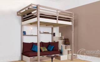 Как сделать кровать чердак?