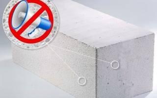 Шумоизоляция газобетонных блоков/ перегородок