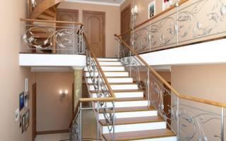 Проекты лестниц на второй этаж высота 2700