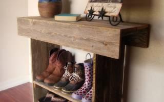 Подставка под обувь в прихожую своими руками